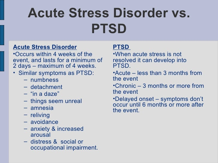 acute stress and trauma A growing literature suggests the clinical importance of acute stress disorder springerlink search home contact us panic symptoms during trauma and acute.