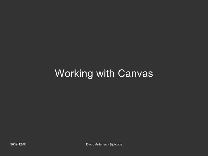 Working with Canvas