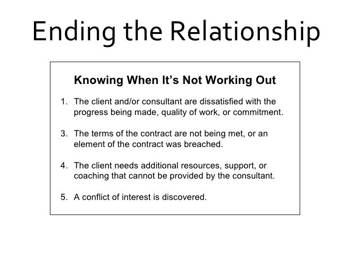 How to work out a relationship that is not working