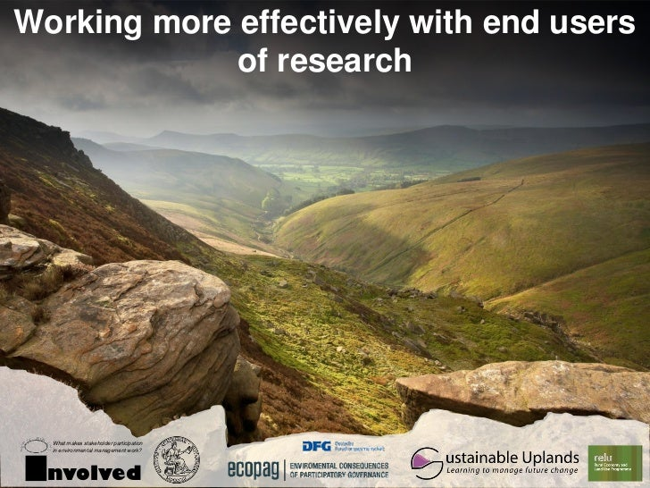 Working more effectively with end users             of research  What makes stakeholder participation     ustainable Uplan...