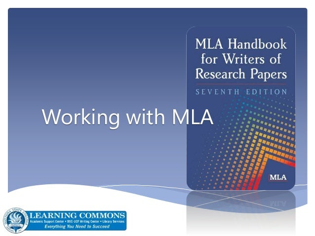 Working with MLA