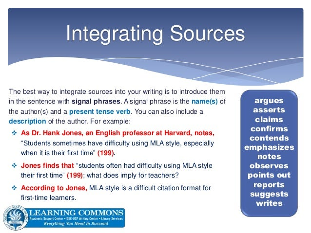 integrate a source into a essay paper
