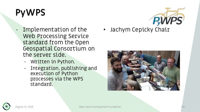 PyWPS - Implementation of the Web Processing Service standard from the Open Geospatial Consortium on the server side. - Wr...