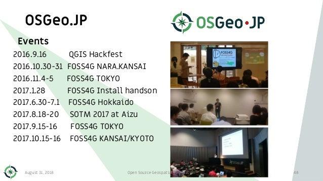 OSGeo.JP Events 2016.9.16 QGIS Hackfest 2016.10.30-31 FOSS4G NARA.KANSAI 2016.11.4-5 FOSS4G TOKYO 2017.1.28 FOSS4G Install...