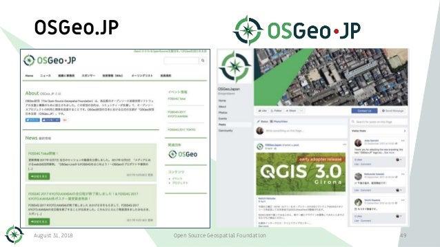 OSGeo.JP August 31, 2018 Open Source Geospatial Foundation 49
