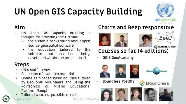 UN Open GIS Capacity Building 89 Aim • UN Open GIS Capacity Building is thought for providing the UN staff • the suitable ...