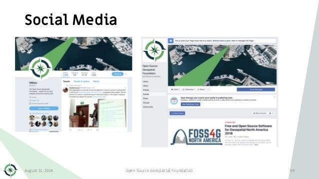 Social Media August 31, 2018 Open Source Geospatial Foundation 99