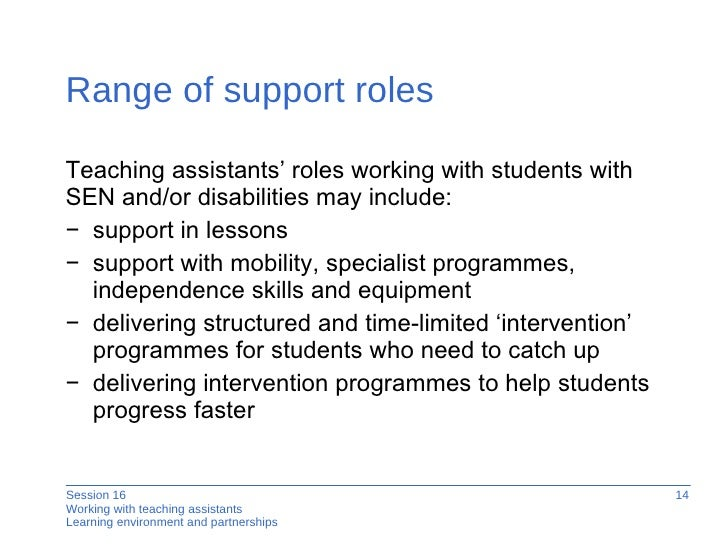 Working With Teaching Assistants - Session Sixteen