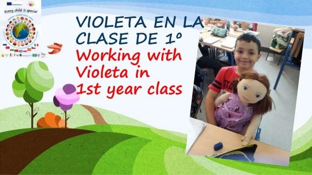 VIOLETA EN LA CLASE DE 1º Working with Violeta in 1st year class