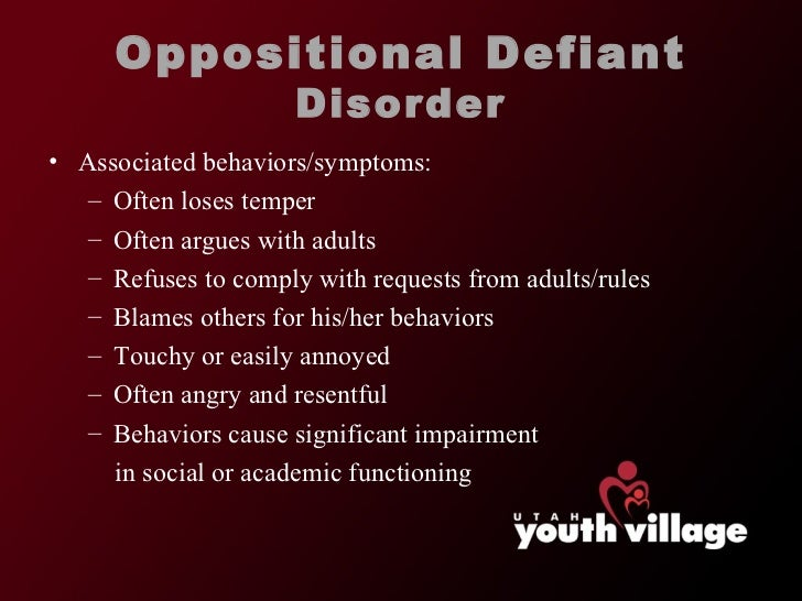 an introduction to the issue of oppositional defiant disorder odd Introduction risk factors and related issues this course will assist school staff members in better understanding oppositional defiant disorder.
