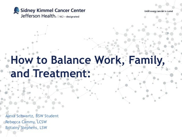 How to Balance Work, Family, and Treatment: Alexa Schwartz, BSW Student Rebecca Cammy, LCSW Britainy Stephens, LSW