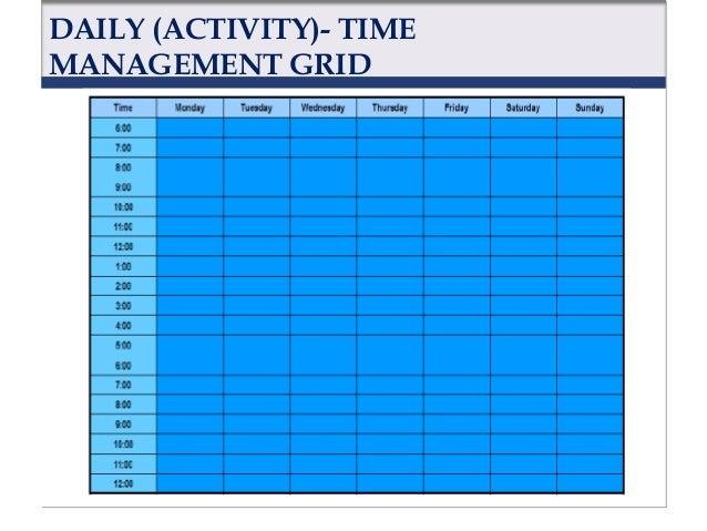 QUARTER (ACTIVITY)- TIME MANAGEMENT GRID