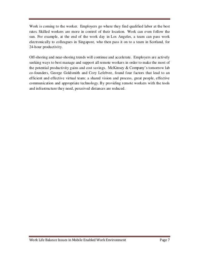 work life balance thesis pdf