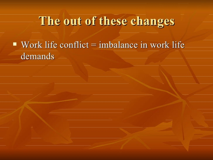issues of the work life conflict There's an art in how to resolve problems at work  talking about work issues at  is there something we can work out where i can have a better work/life.