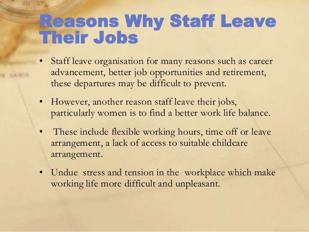 good reason to leave a job