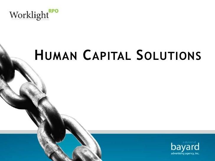 Human Capital Solutions<br />