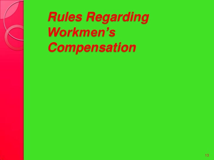 workmen compensation act Workers' compensation act the workmen's compensation act is not a bar to indemnity where such a right can be predicated on some legal relationship between the third party and employer giving rise to a duty on the part of the employer to the third party which is either contractually or.