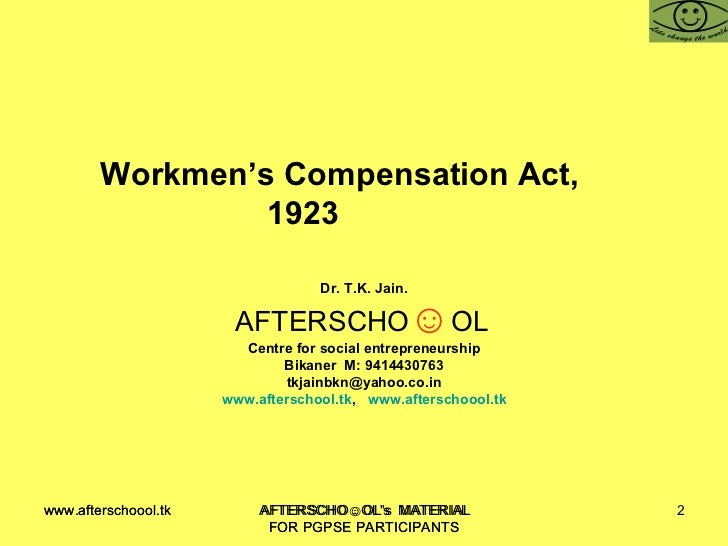 Workmen Compensation Act Pdf