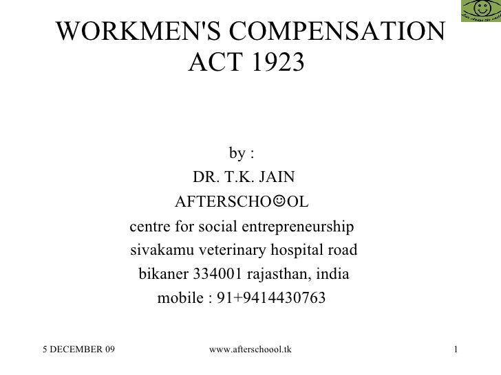 workmens compensation law ghana essay Workmens compensation act, 1923 commissioner means a commissioner for workmen's compensation appointed under section 20 (c) a widowed daughter-in-law.