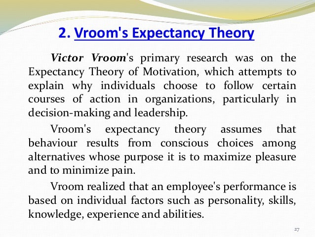 work and motivation victor vroom work and motivation 1964 Work and motivation victor vroom work and motivation 1964 people go to workin this assay i like to talk about my personal experience of going to work with no motivation for a job, and.