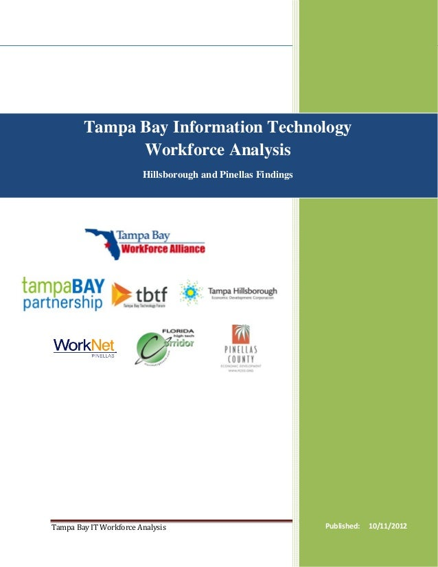 Tampa Bay Information Technology              Workforce Analysis                        Hillsborough and Pinellas Findings...