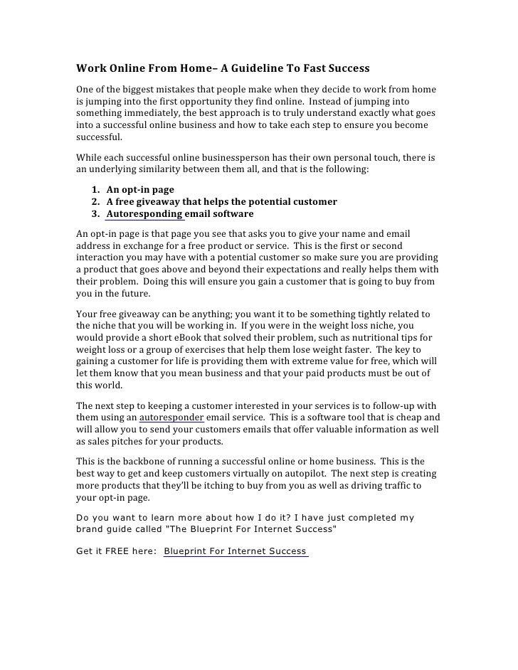 WorkOnlineFromHome–AGuidelineToFastSuccess Oneofthebiggestmistakesthatpeoplemakewhentheydecidetowork...