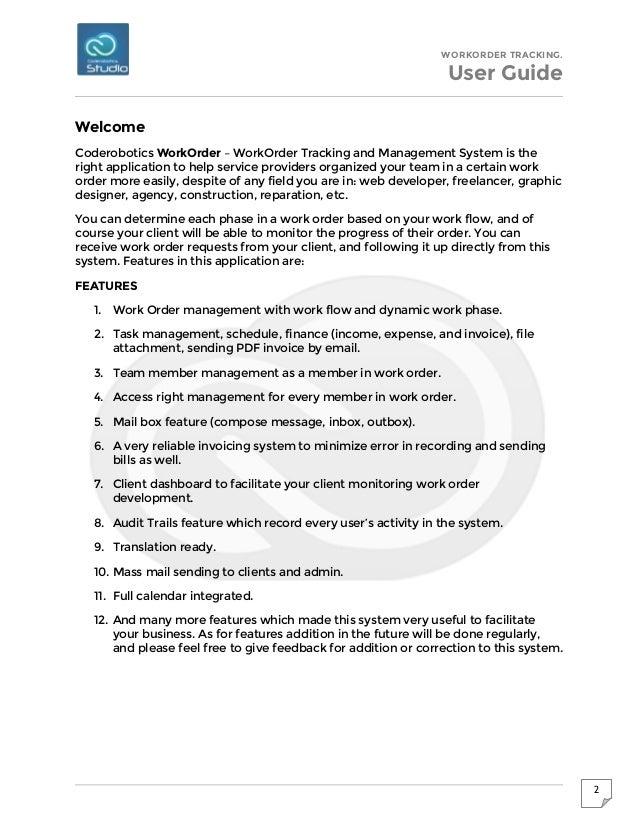 Work Order Tracking & Management System