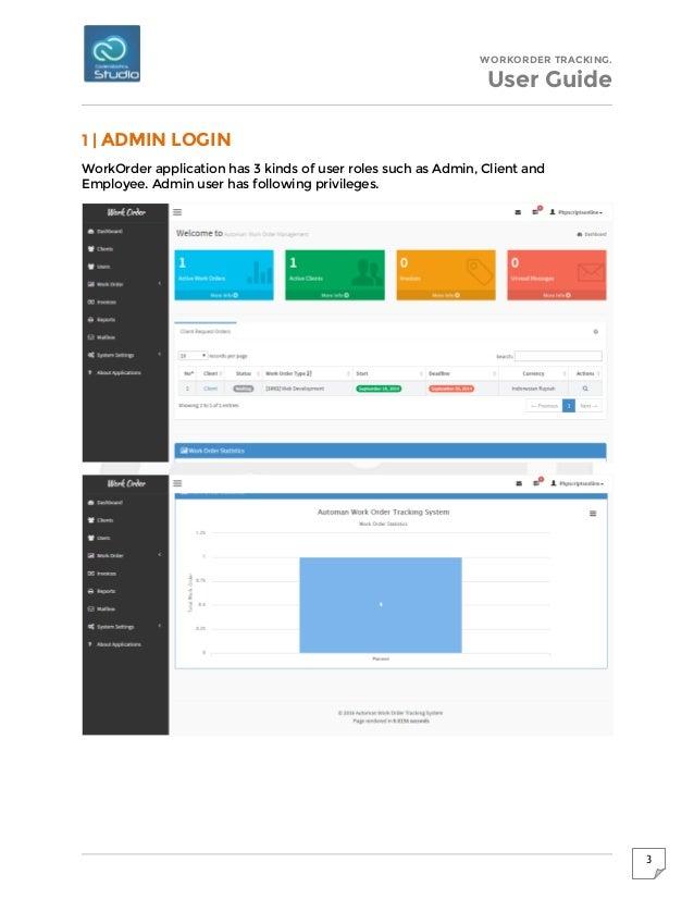 work order tracking management system