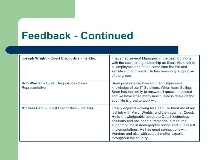 Work Overview Presentation