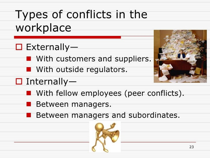 Examples of Conflicts & Resolutions in the Workplace