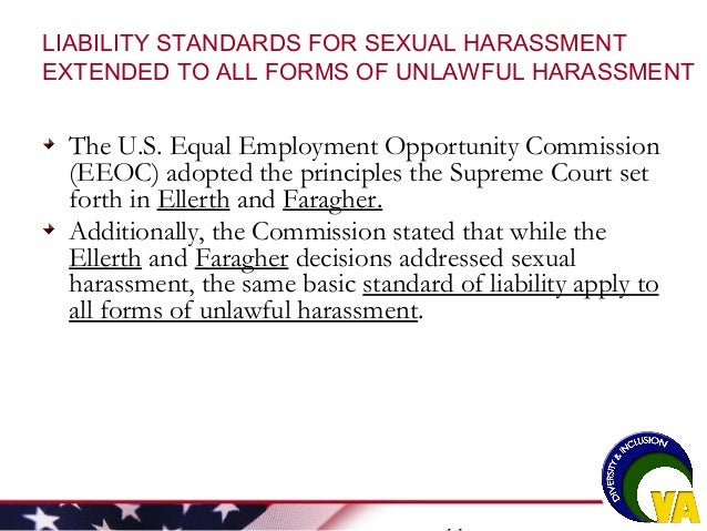 Eeoc employer liability for sexual harassment
