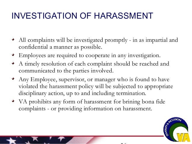 Workplace Harassment Training by U.S. Department of Veterans Affairs