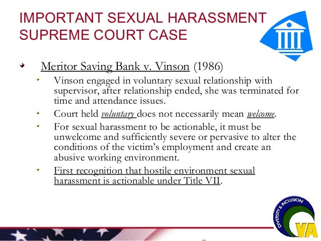 Hostile environment sexual harassment appellate court cases