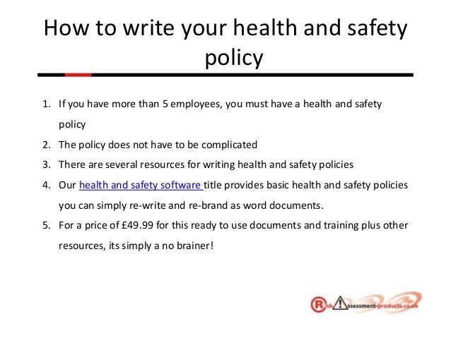 5 how to write your health and safety policy