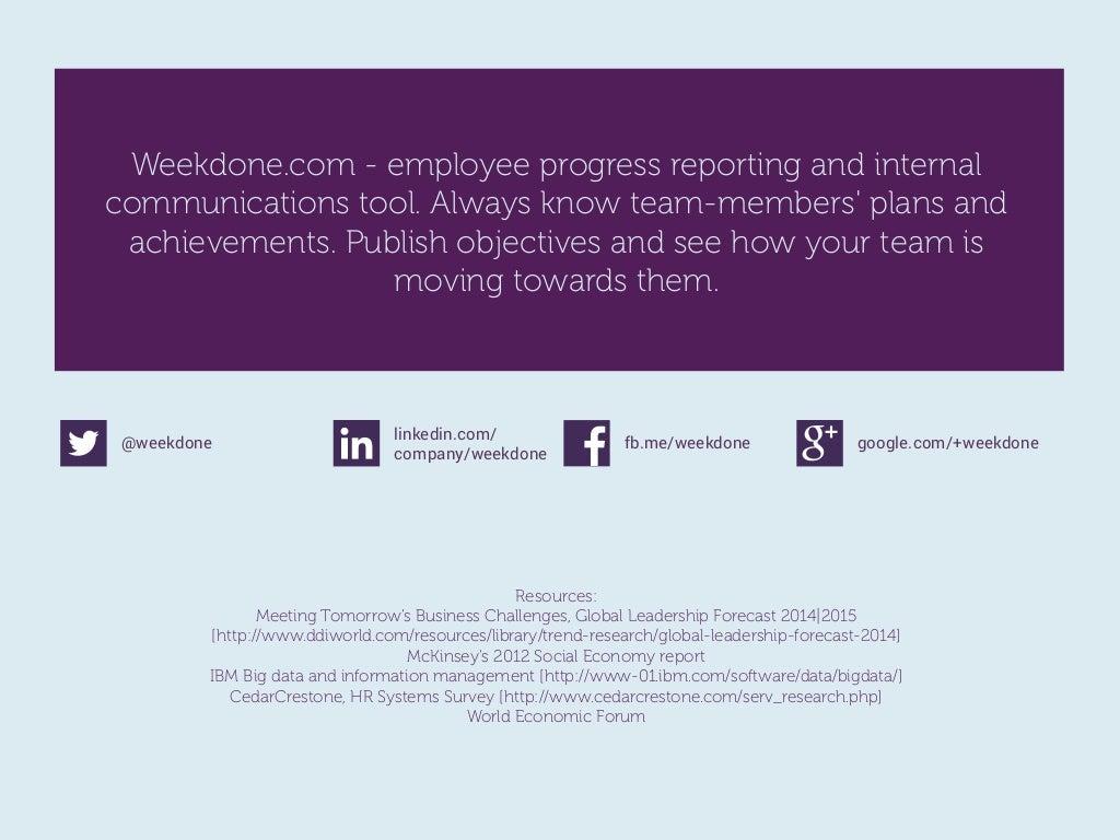 weekdone com employee progress reporting