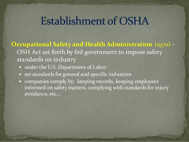 osha and the health care industry essay Osha is extending its national emphasis program on nursing and residential care facilities because the healthcare industry still has more reported workplace injuries than any other general industry, osha enforcement director thomas galassi wrote in a memo to state and regional staff.