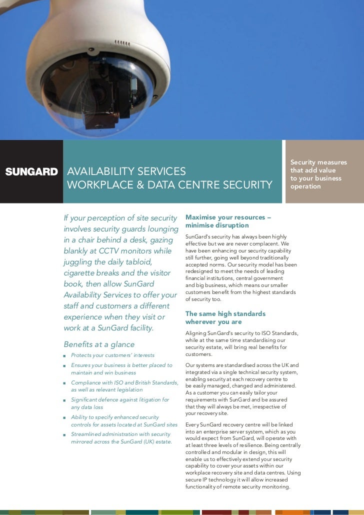Security measures AVAILABILITY SERVICES                                                                          that add ...