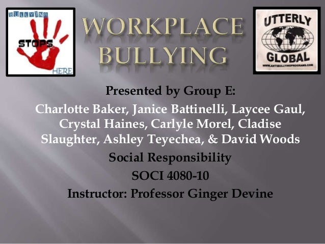 Presented by Group E: Charlotte Baker, Janice Battinelli, Laycee Gaul, Crystal Haines, Carlyle Morel, Cladise Slaughter, A...