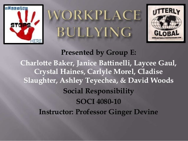 Presented by Group E:Charlotte Baker, Janice Battinelli, Laycee Gaul,    Crystal Haines, Carlyle Morel, Cladise Slaughter,...
