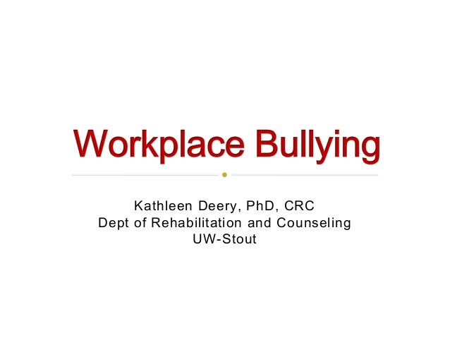 The Impact of Workplace Bullying on Individuals with Disabilities