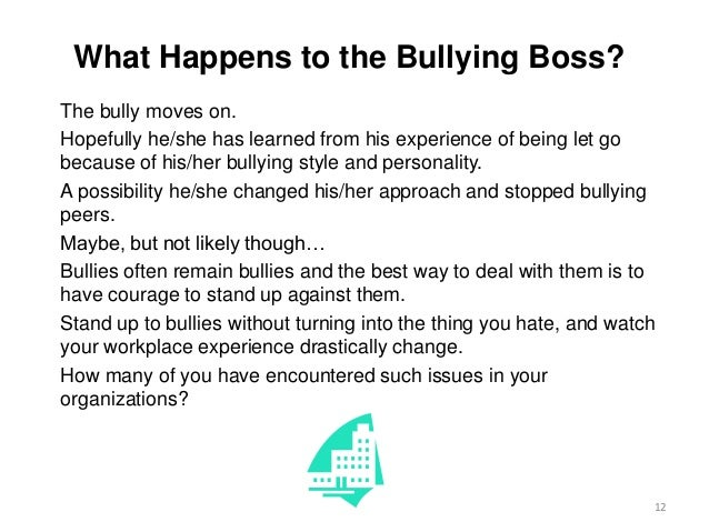 how to tell if your boss is a bully