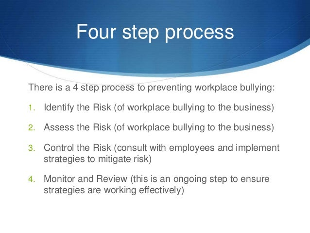 Steps to handling bullying