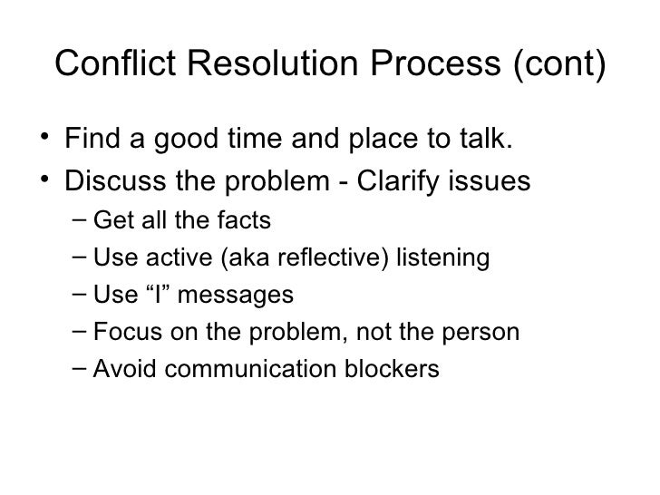 dispute resolution at the workplace Examples of conflicts & resolutions in the workplace  examples of conflicts & resolutions in the workplace last  five types of conflict resolution.