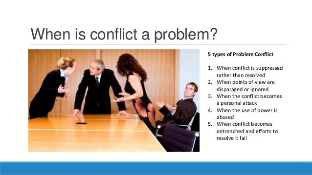 resolving conflicts in the workplace Interview questions about conflict are designed to determine an applicant's ability to get along with others conflicts in the workplace may involve personality clashes, disagreements with management about policies, miscommunication between coworkers, or a number of other issues that may disrupt the.