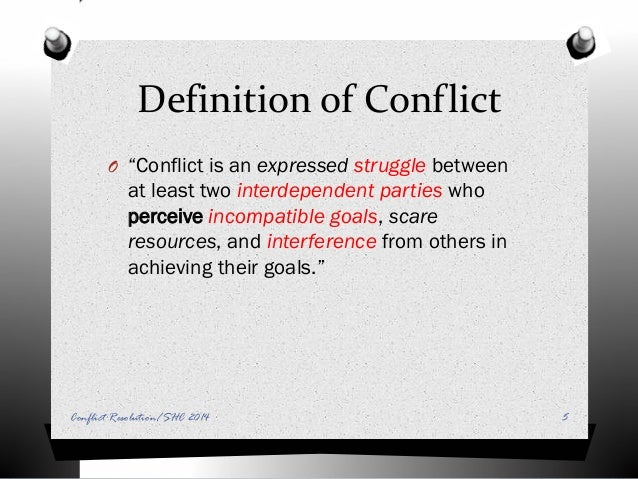 what is conflict in the workplace definition