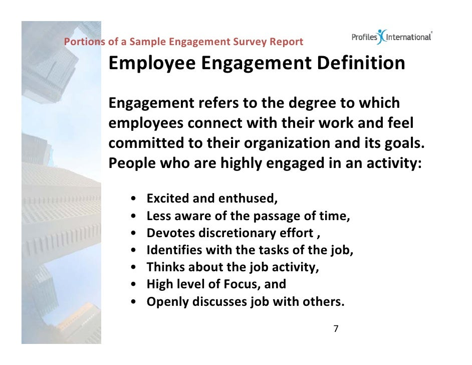 Workplace Engagement Survey - Presentation