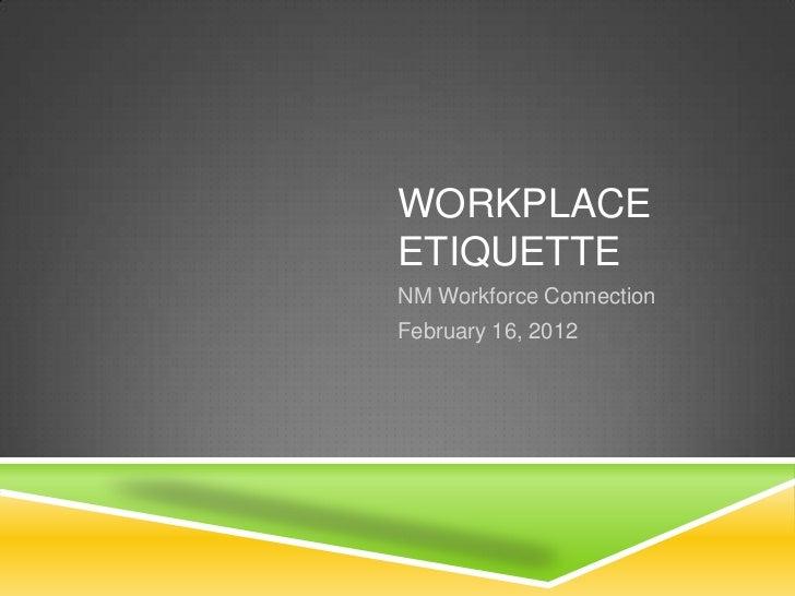 workplace ettiquette