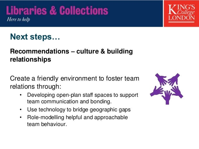 Next steps… Recommendations – training & development • Embed training within a constructivist framework tailored to indivi...