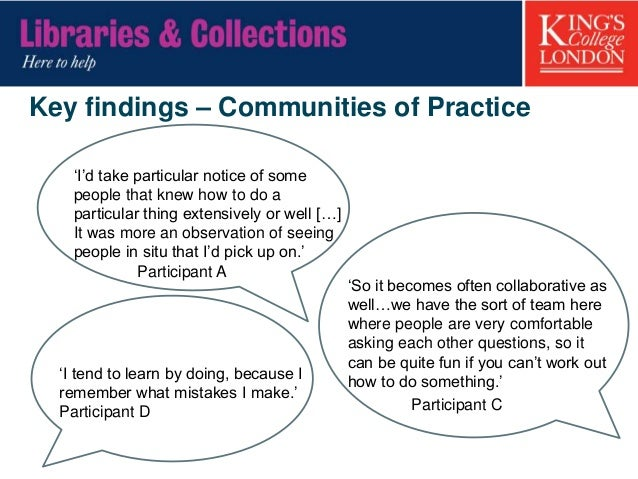 Key findings – the role of trust in information- sharing relationships • 'I felt like I had quite a unique relationship wi...