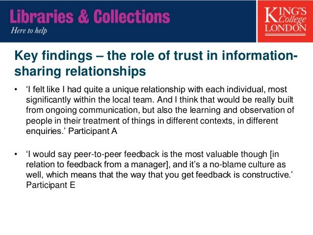 Key findings – IL skills knowledge gap 'I've found that if I'm using databases or thinking about literature searching, I'l...
